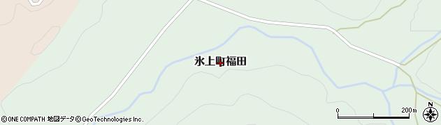 兵庫県丹波市氷上町福田周辺の地図