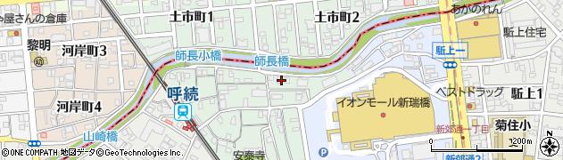 愛知県名古屋市南区呼続元町周辺の地図