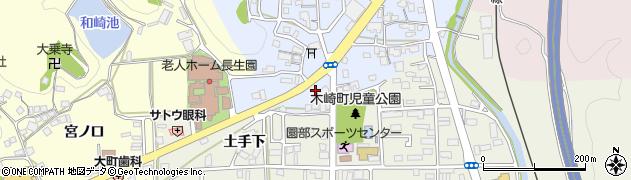 京都府南丹市園部町内林町(上ヲサ)周辺の地図