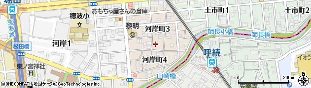 愛知県名古屋市瑞穂区河岸町周辺の地図
