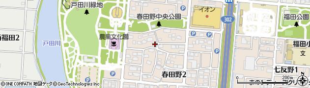 愛知県名古屋市港区春田野周辺の地図