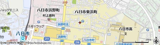 滋賀県東近江市八日市東浜町周辺の地図