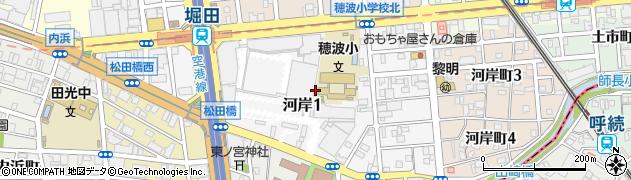 愛知県名古屋市瑞穂区河岸一丁目周辺の地図