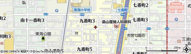 大臣周辺の地図