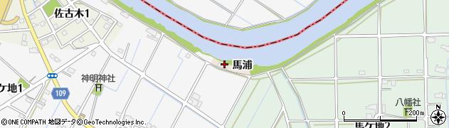 愛知県弥富市善太町馬浦周辺の地図