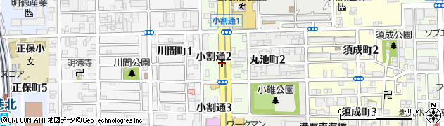 愛知県名古屋市港区小割通周辺の地図