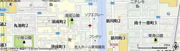 愛知県名古屋市港区新船町周辺の地図