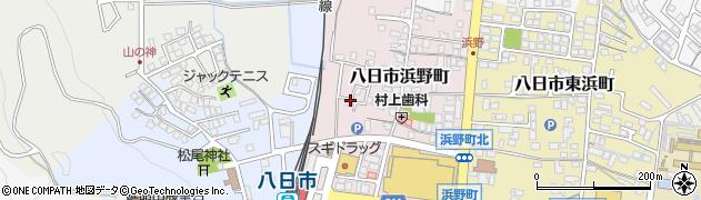 滋賀県東近江市八日市浜野町周辺の地図