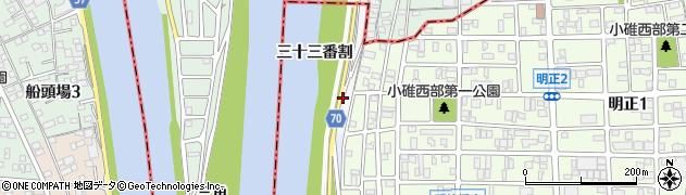 愛知県名古屋市港区小碓町周辺の地図