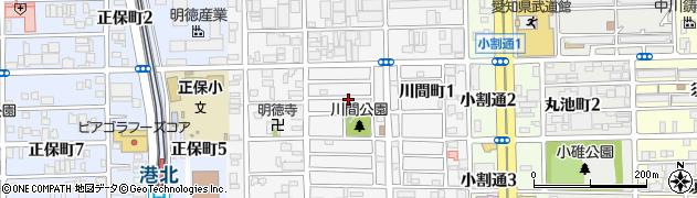 愛知県名古屋市港区川間町周辺の地図