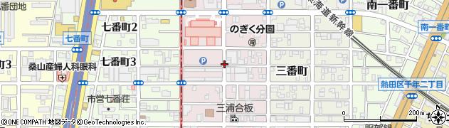 愛知県名古屋市熱田区五番町周辺の地図