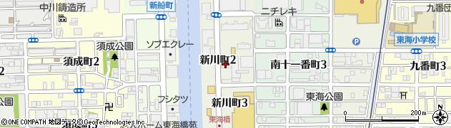 愛知県名古屋市港区新川町周辺の地図