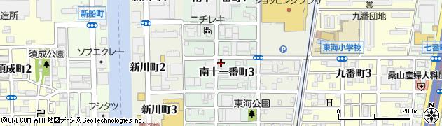愛知県名古屋市港区南十一番町周辺の地図