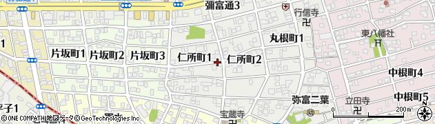 愛知県名古屋市瑞穂区仁所町周辺の地図