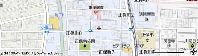 愛知県名古屋市港区正保町周辺の地図