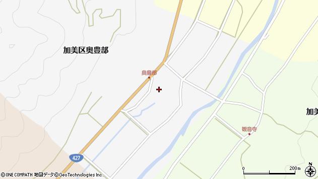 〒679-1337 兵庫県多可郡多可町加美区奥豊部の地図