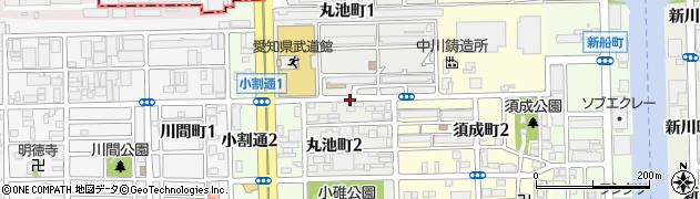 愛知県名古屋市港区丸池町周辺の地図