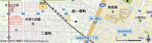 愛知県名古屋市熱田区南一番町周辺の地図