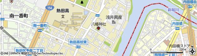 八幡周辺の地図