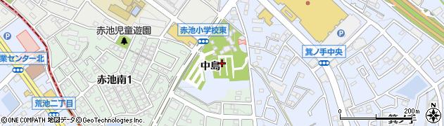 愛知県日進市赤池町(中島)周辺の地図