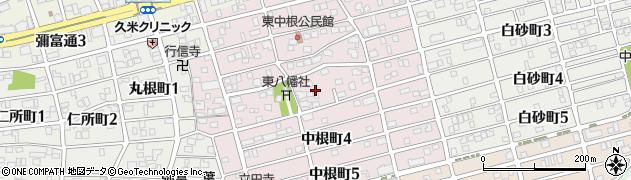 愛知県名古屋市瑞穂区中根町周辺の地図