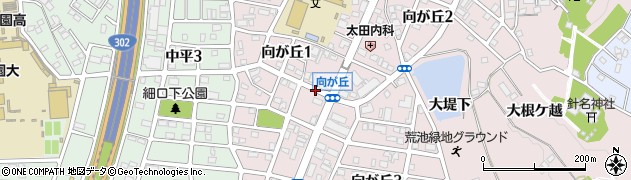 愛知県名古屋市天白区向が丘周辺の地図