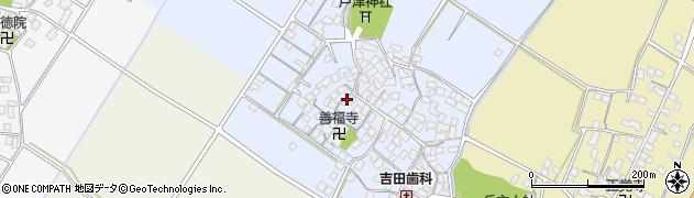 滋賀県野洲市安治周辺の地図