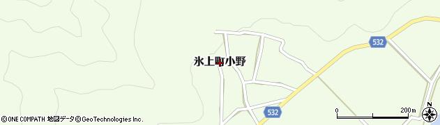 兵庫県丹波市氷上町小野周辺の地図