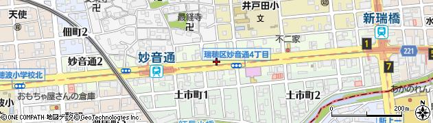 愛知県名古屋市瑞穂区妙音通周辺の地図