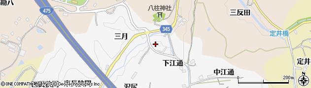 愛知県豊田市滝見町(三月)周辺の地図