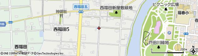 愛知県名古屋市港区西福田周辺の地図