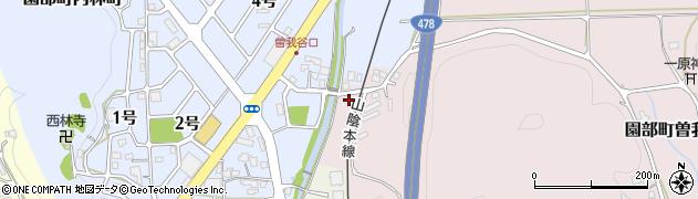 京都府南丹市園部町曽我谷(下中ソネ)周辺の地図