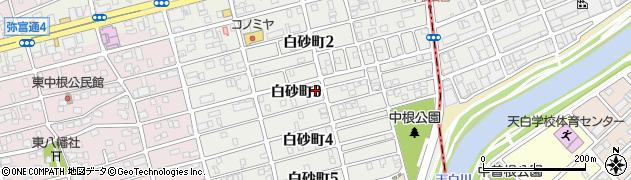 愛知県名古屋市瑞穂区白砂町周辺の地図