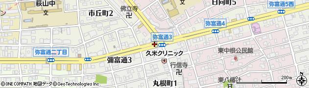 愛知県名古屋市瑞穂区彌富通周辺の地図