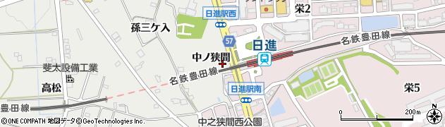 愛知県日進市折戸町(中ノ狭間)周辺の地図