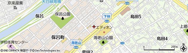 花木周辺の地図