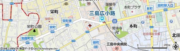 笑みや 三島広小路周辺の地図