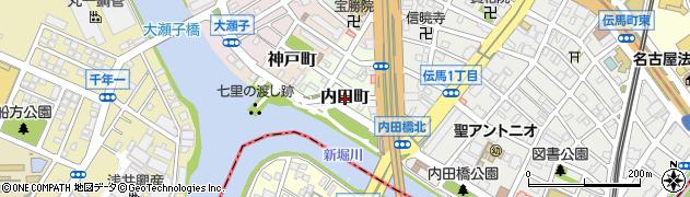 愛知県名古屋市熱田区内田町周辺の地図
