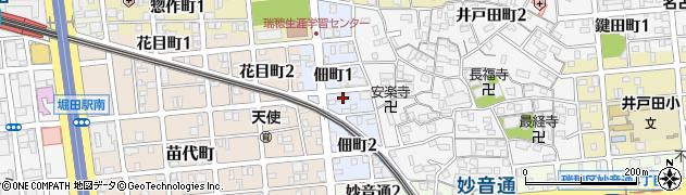 愛知県名古屋市瑞穂区佃町周辺の地図