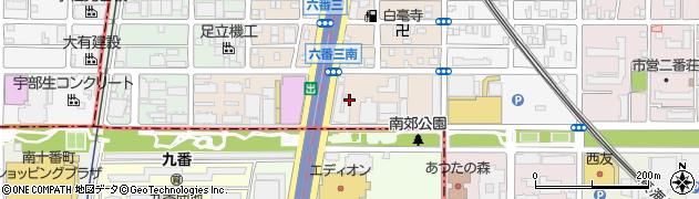 南熱田荘周辺の地図
