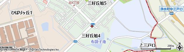 愛知県みよし市三好丘旭周辺の地図