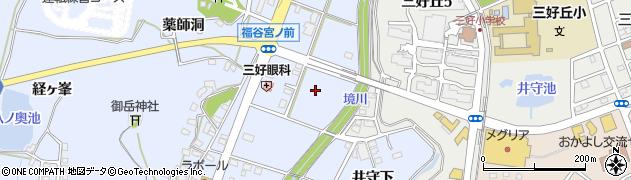 愛知県みよし市福谷町(壱丁田)周辺の地図