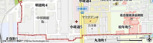 愛知県名古屋市中川区小碓町周辺の地図