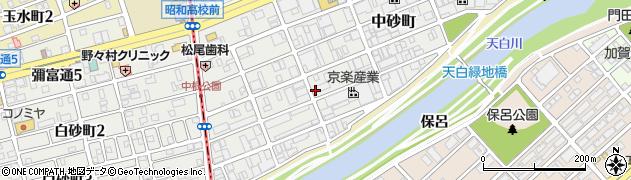 愛知県名古屋市天白区中砂町周辺の地図