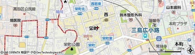 静岡県三島市栄町周辺の地図