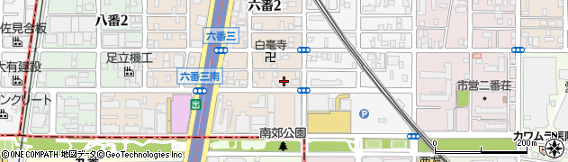 ロダン周辺の地図