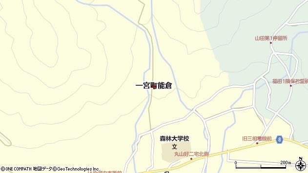 〒671-4142 兵庫県宍粟市一宮町能倉の地図