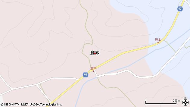 〒669-2713 兵庫県丹波篠山市倉本の地図