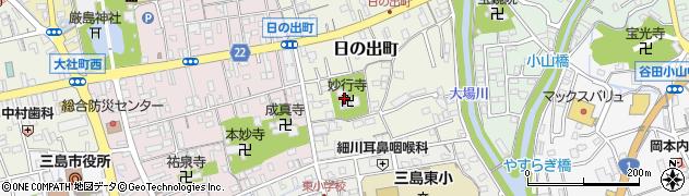 妙行寺周辺の地図