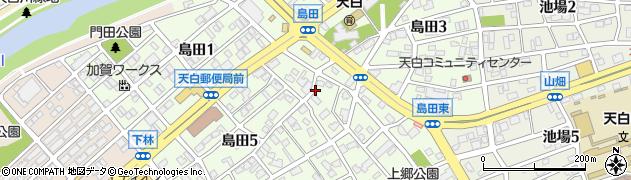 愛知県名古屋市天白区島田周辺の地図